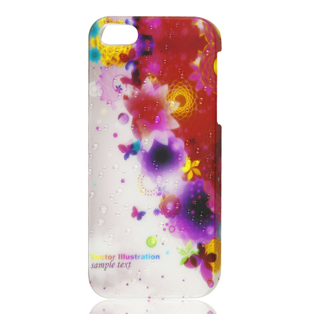 Multicolor Floral 3D Water Drop Raindrop Hard Back Case Cover for iPhone 5 5G