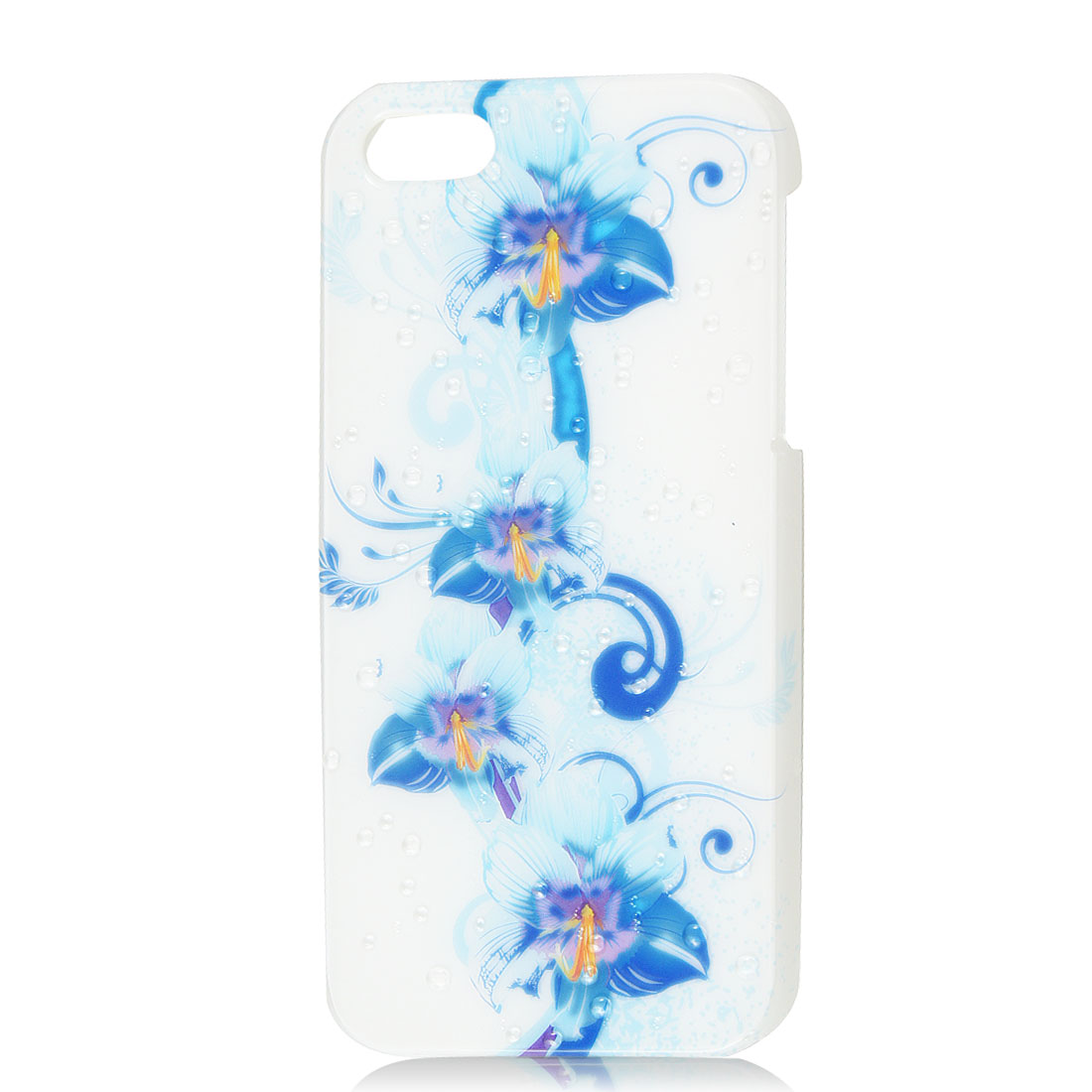 Light Blue Floral 3D Water Drop Raindrop Hard Back Case Cover for iPhone 5 5G