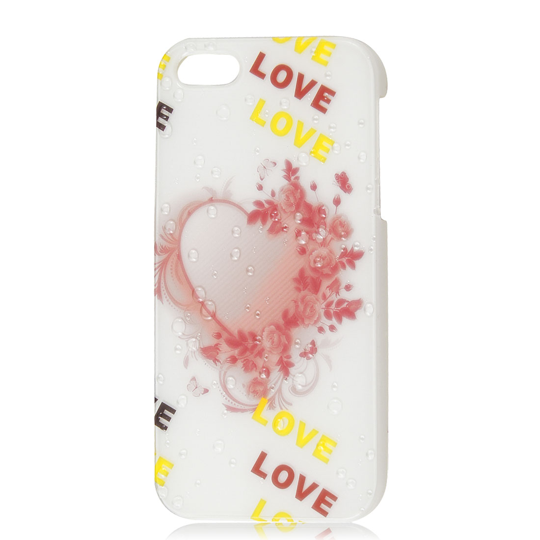 Heart Love 3D Raindrop Waterdrop Hard Back Case Skin Cover for iPhone 5 5G