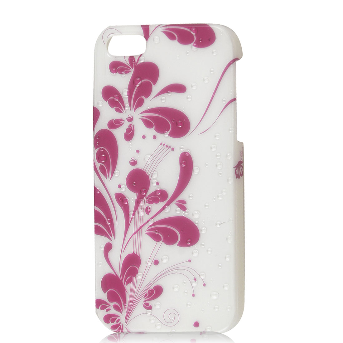 Fuchsia Flower 3D Water Droplet Raindrop Hard Back Case Cover for iPhone 5 5G