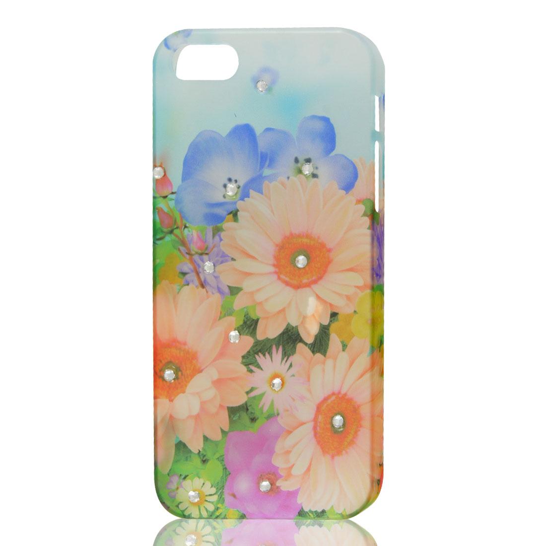 Multicolor Sunflower Bling Glitter Sparkle Rhinestone Hard Back Case Cover for iPhone 5 5G