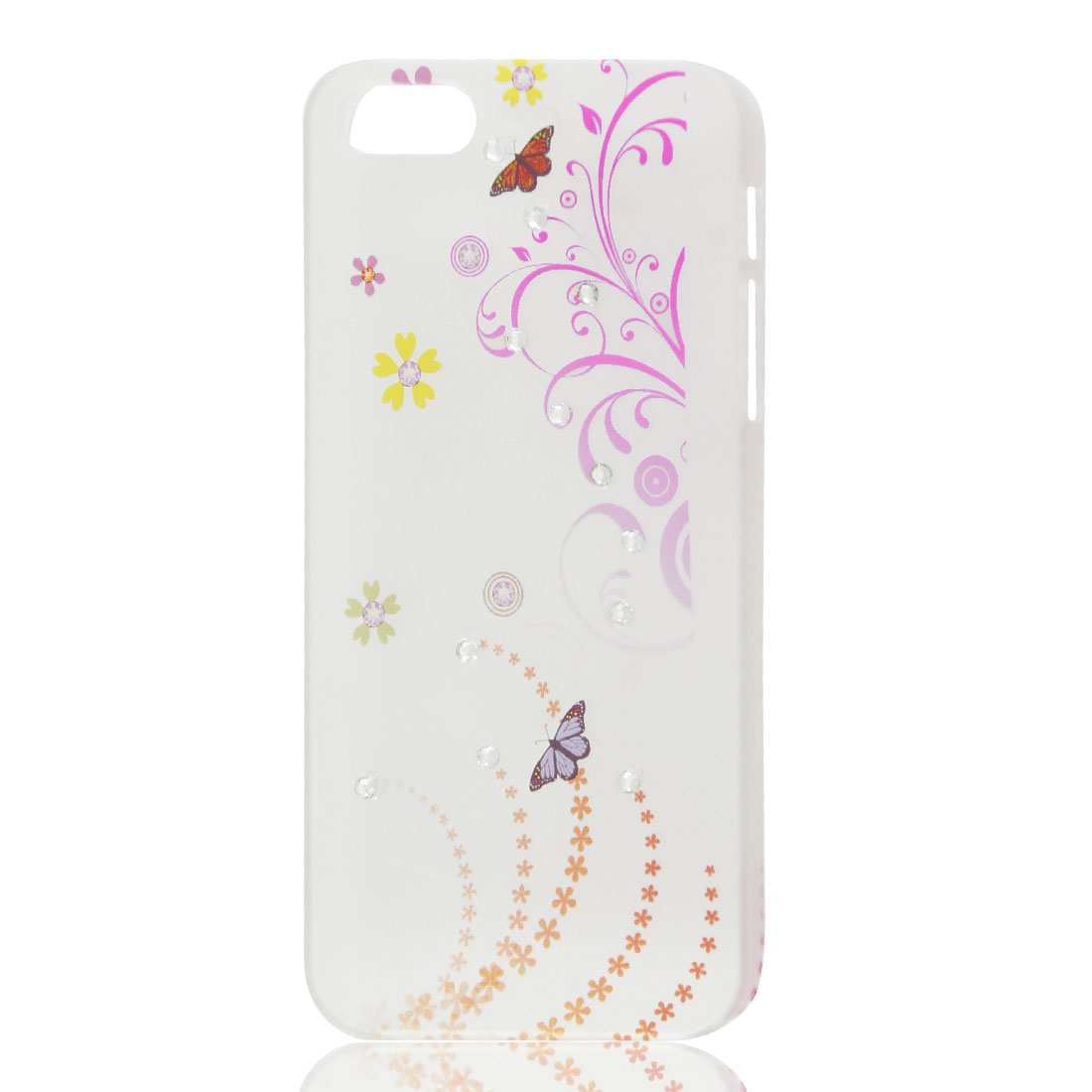 Multicolor Flower Butterfly Bling Rhinestone Hard Back Case Cover for iPhone 5 5G