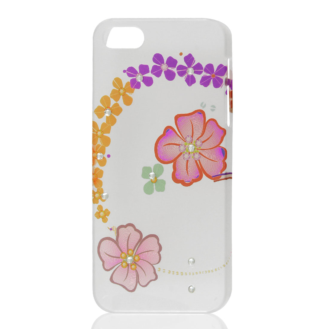 Assorted Color Flower Bling Rhinestone Hard Back Case Cover for iPhone 5 5G