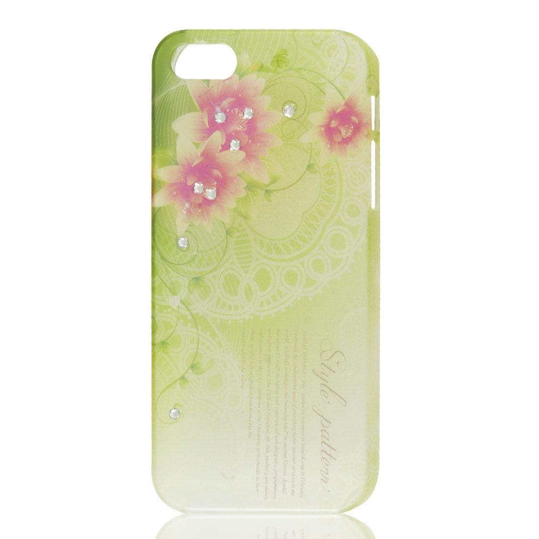 Flower Letters Bling Glitter Rhinestone Hard Back Case Cover for iPhone 5 5G