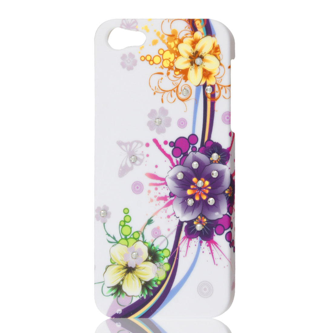 Multicolor Flower Bling Sparkling Rhinestone Hard Back Case Cover for iPhone 5 5G