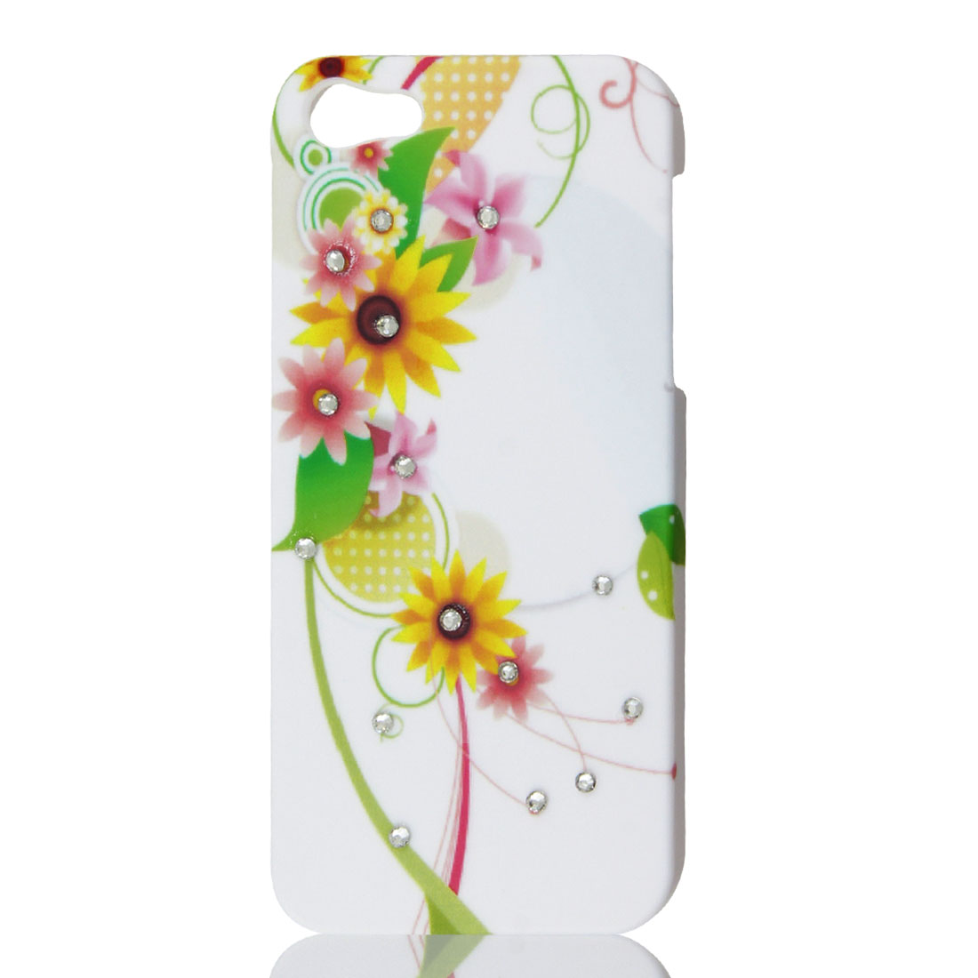 Shiny Rhinestone Sunflower Pattern Protective Hard Case Back Cover for iPhone 5G