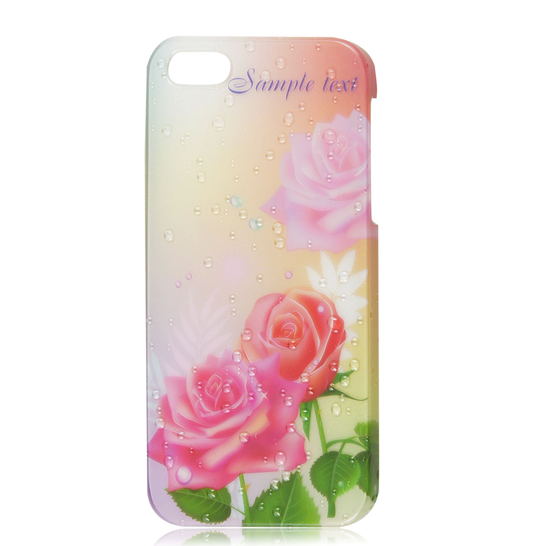3D Water Drop & China Floral Rose Design Hard Back Case Cover for iPhone 5 5G