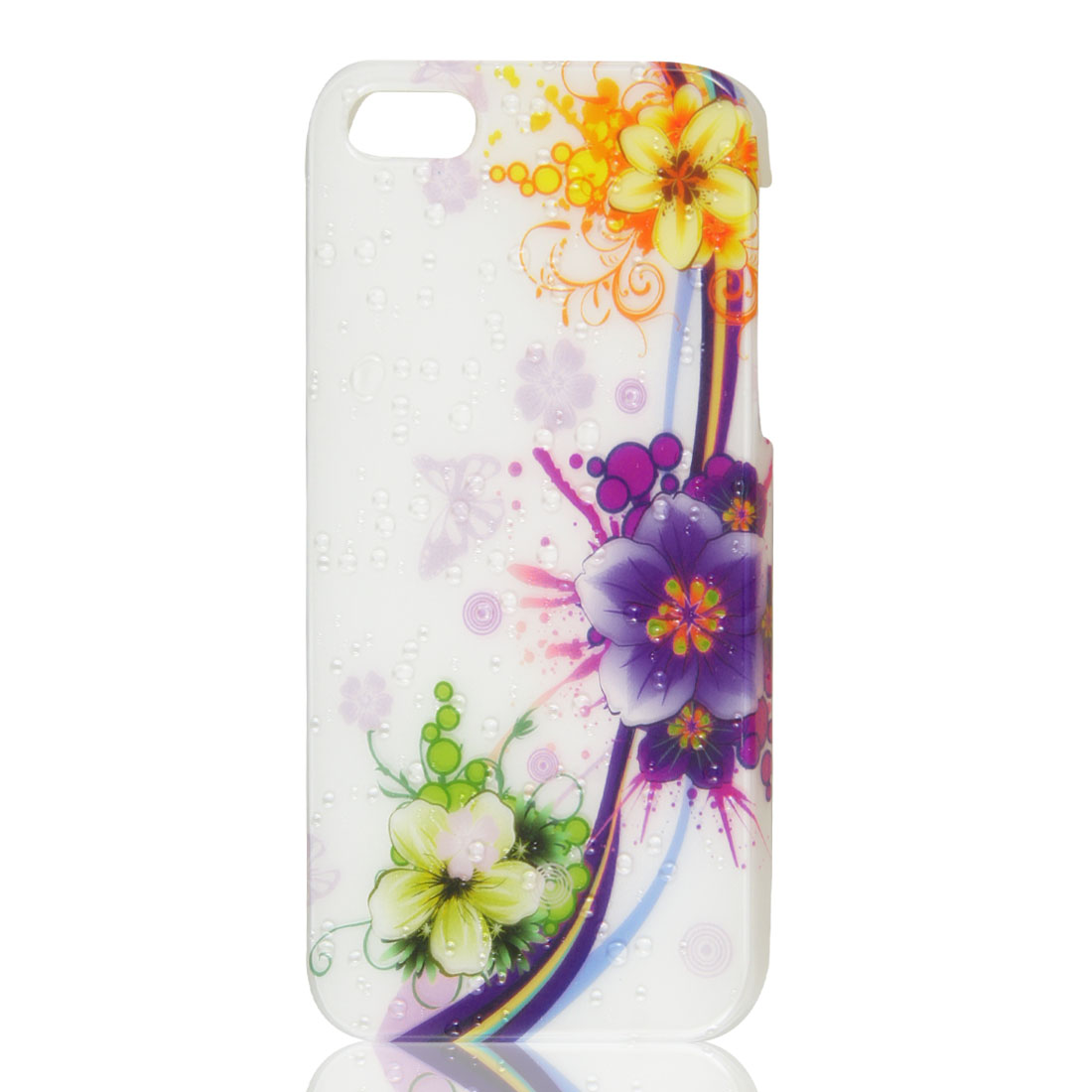 3D Water Drop Waterdrop & Floral Hard Back Case Skin Cover for iPhone 5 5G