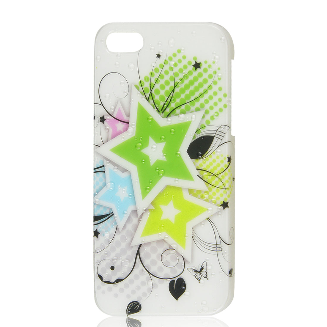 Colorful Star Hard Back Case Cover for iPhone 5 5G 3D Water-drop Design