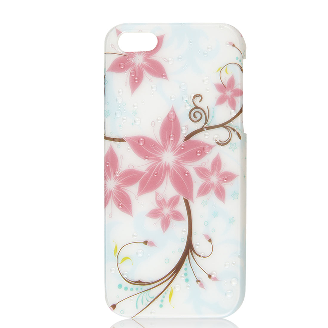Light Pink Flower 3D Raindrop Hard Back Case Cover Skin for iPhone 5 5G