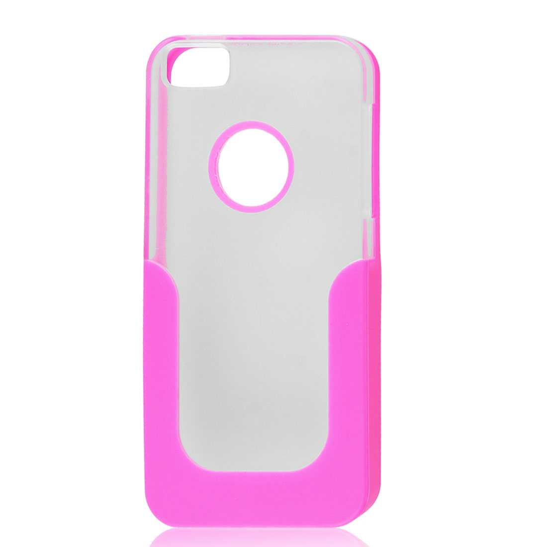Soft Plastic Case Skin Cover Shell Rose Pink Clear for Apple iPhone 5 5G