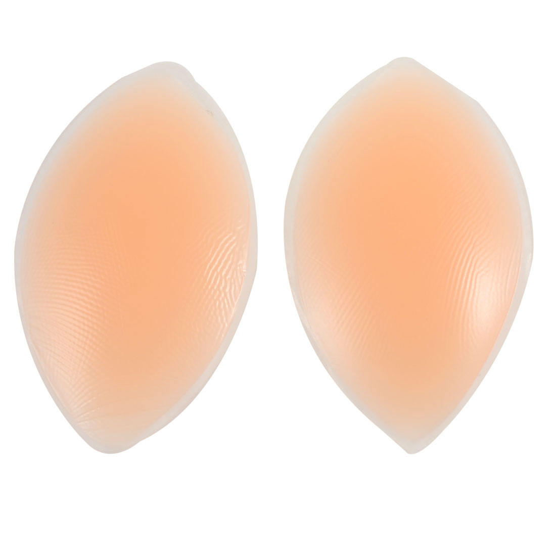 Light Orange Olive Shape Soft Silicone Breast Enhancer Pads 2 Pcs
