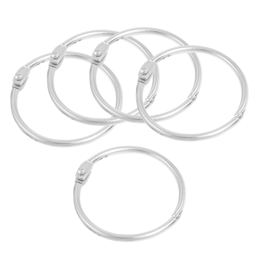 "5x Silver Tone 1.5"" Inner Dia Looseleaf Binder Rings for Scrapbooking Book"