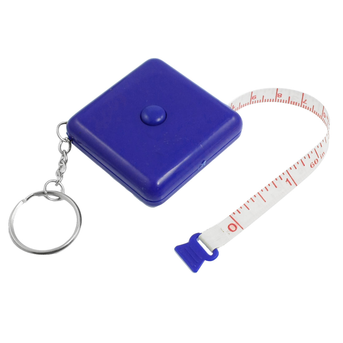 Tailor Sewing Blue Square Casing 1.5M Retractable Tape Measure Tool