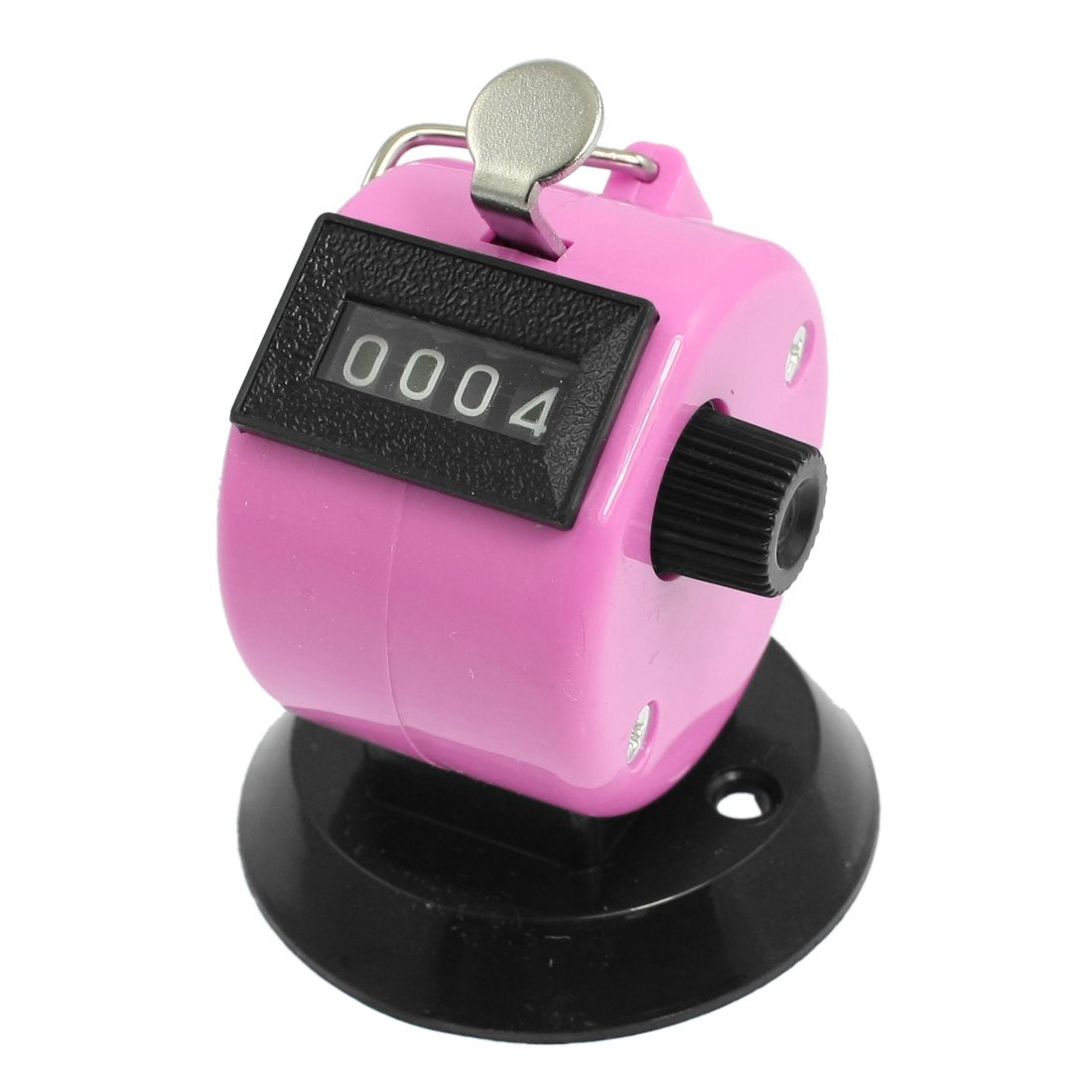Golf Pitch 4 Digit Number Clicker Hand Held Tally Counter Black Pink