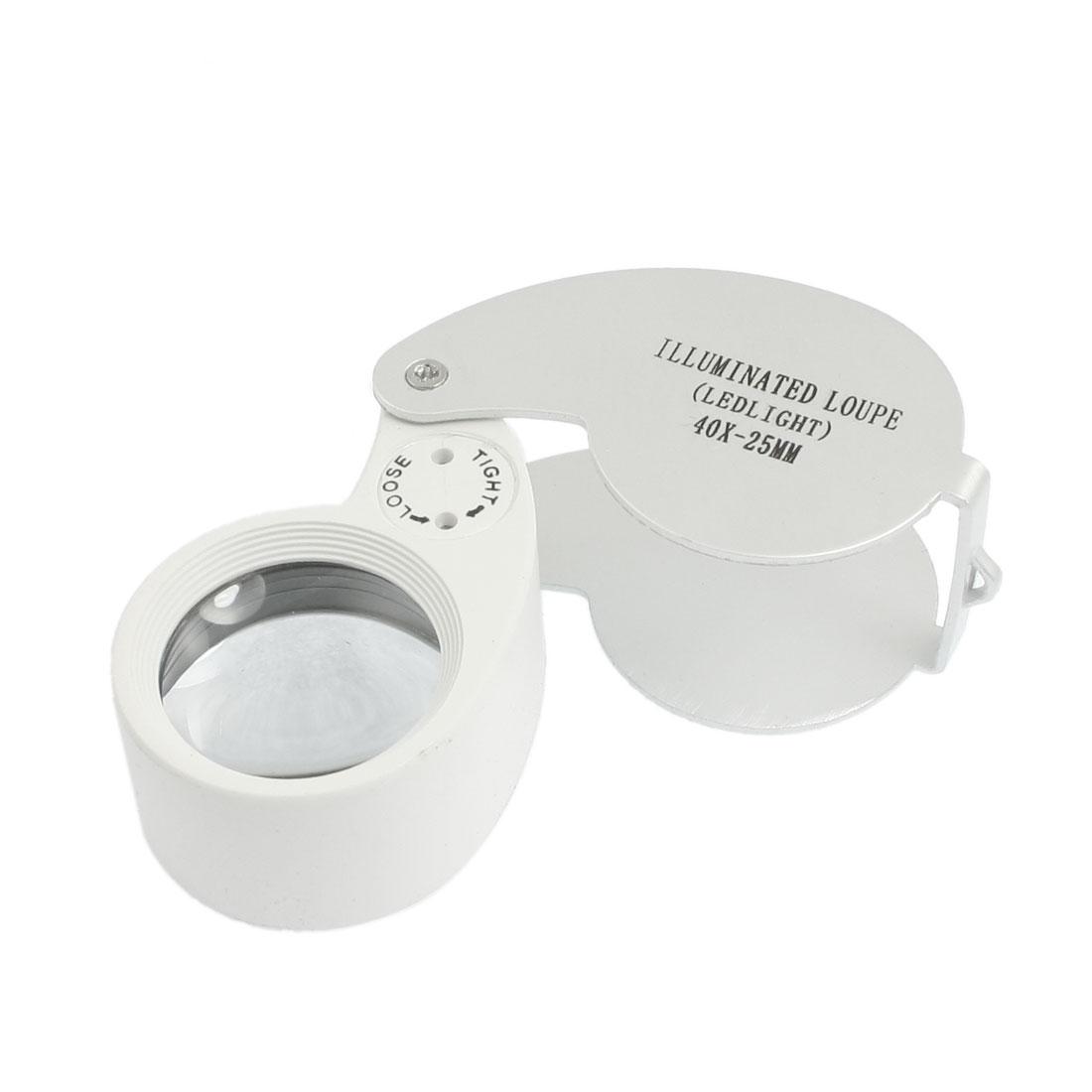 25mm Whistle Shape Foldable Illuminated Loupe Magnifying Glass