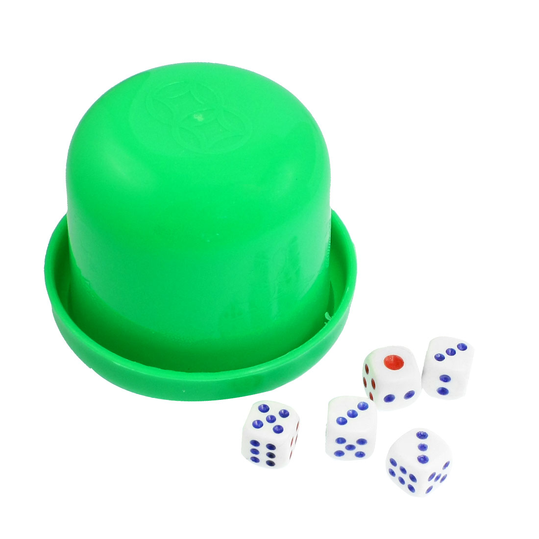 KTV Bar Green Plastic 5 Dices Casual Dice Shaker Cup Toy