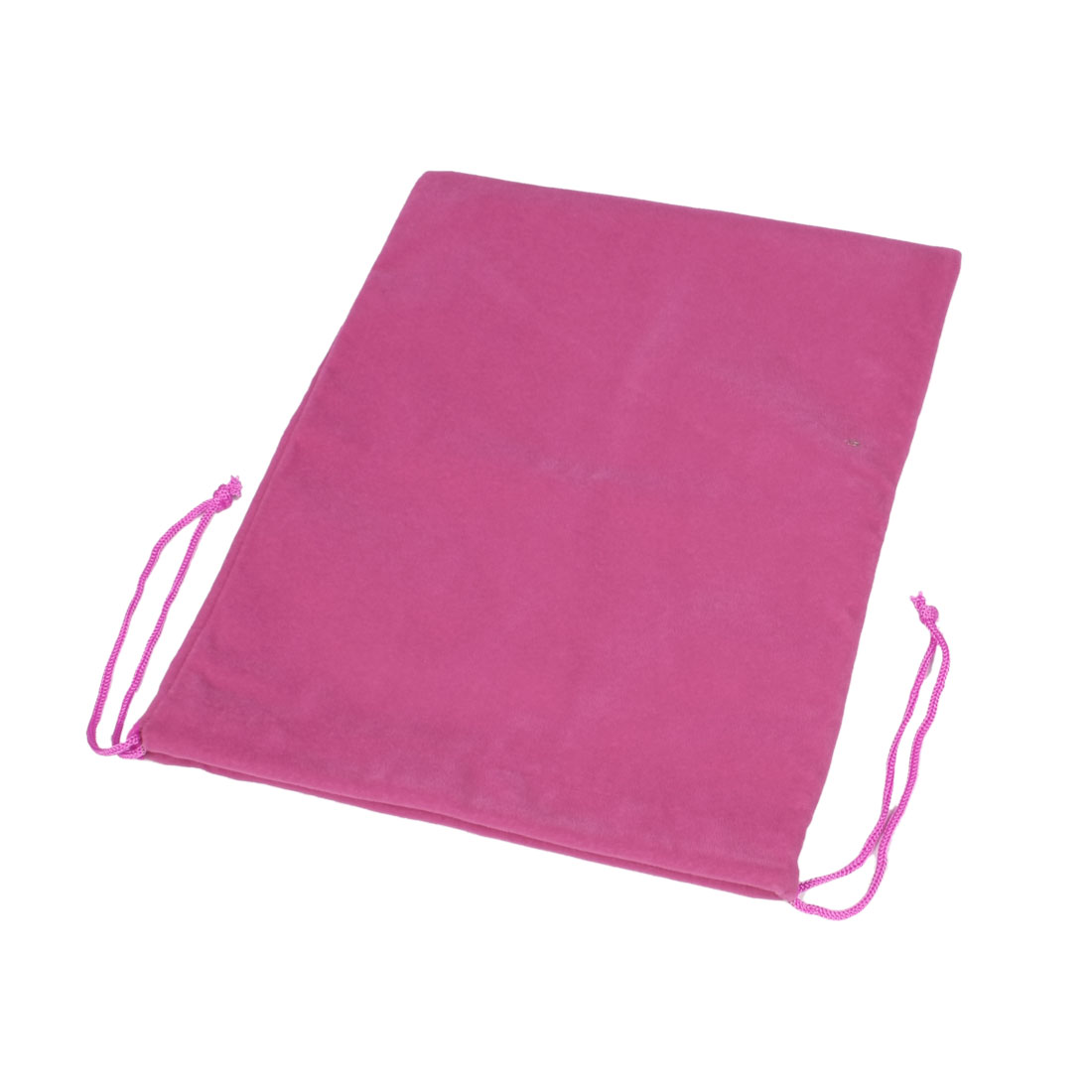 "Magenta Soft Velvet Pouch Bag for 10.2"" Flat Computer Tablet PC"