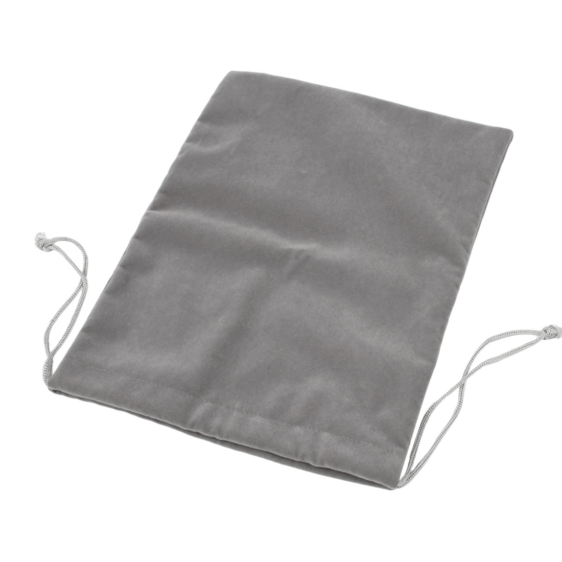 "Drawstring Closure Dark Gray Soft Velvet Pouch Bag for 10"" 10.1"" 10.2"" Tablet PC"