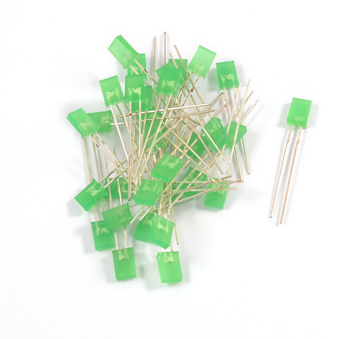 30 Pieces 2 Terminals Superbright Green LED Light Diodes