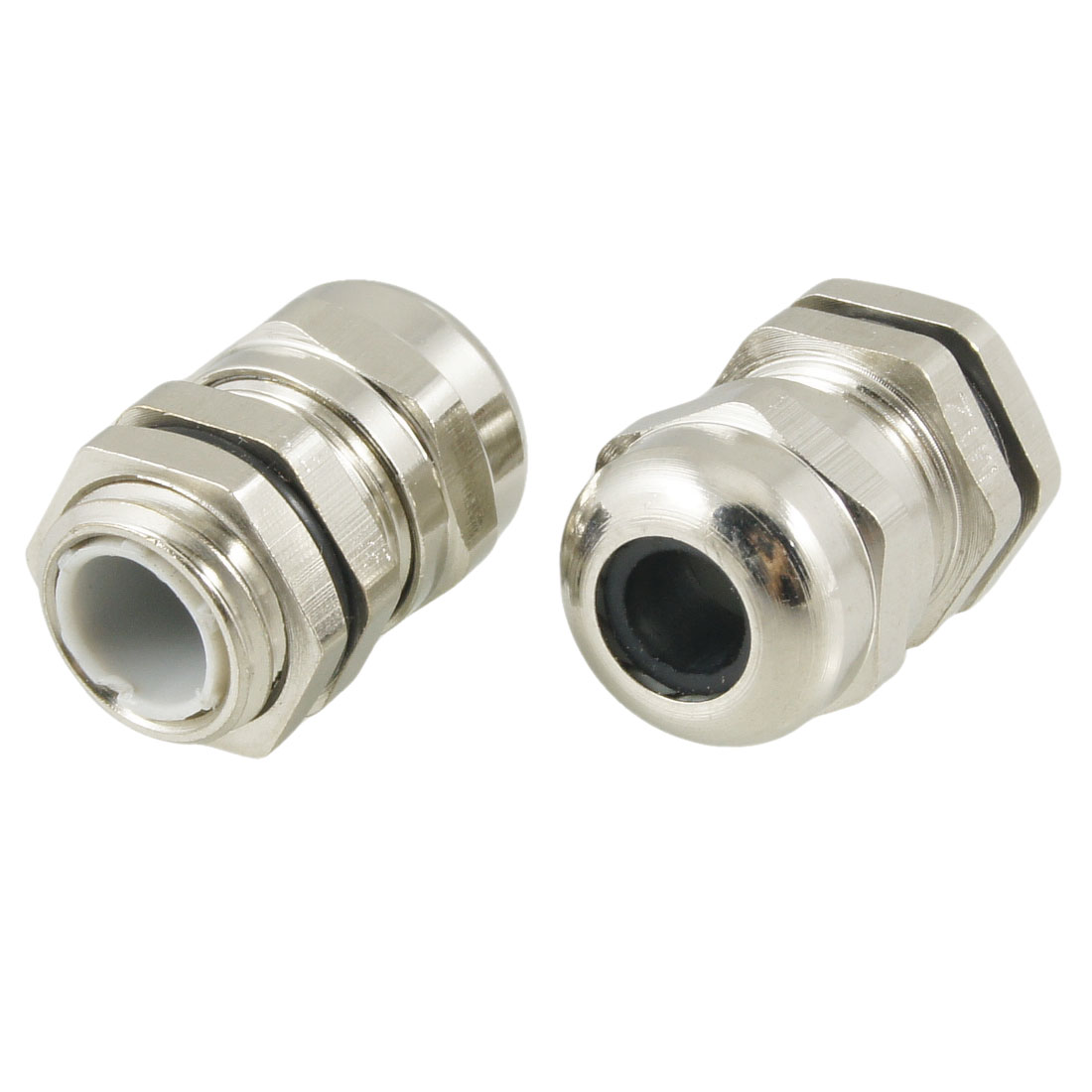 2 Pcs M12 3.0-6.5mm Stainless Steel Waterproof Joint Cable Gland