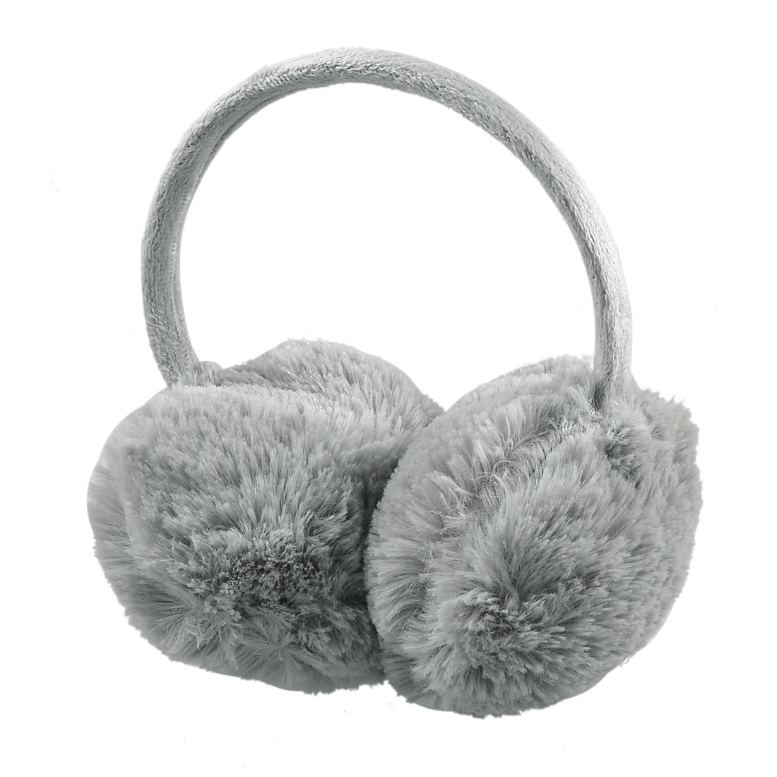 Lady Headwear Gray Fluffy Plush Ear Warmers Winter Earmuffs
