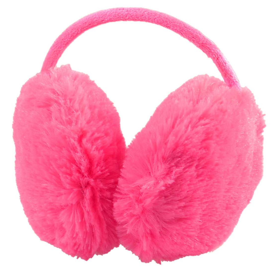 Woman Watermelon Red Plush Fluffy Ear Warmer Muffs Earmuffs Headband