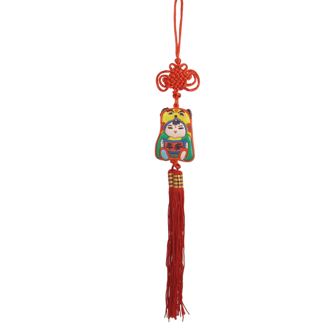 Car Auto Red Tassel Chinese Traditional Girl Pendant Hanging Decor