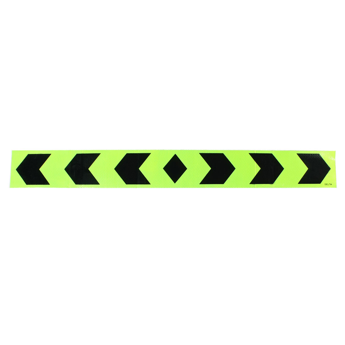 90x10cm Adhesive Car Reflective Warning Sign Decal Sticker Yellow-green Black