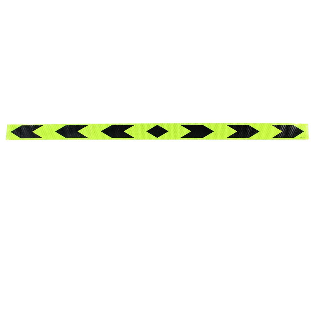 Plastic Adhesive Auto Car Reflective Tape Stripe Safety Sticker 90cm x 5cm