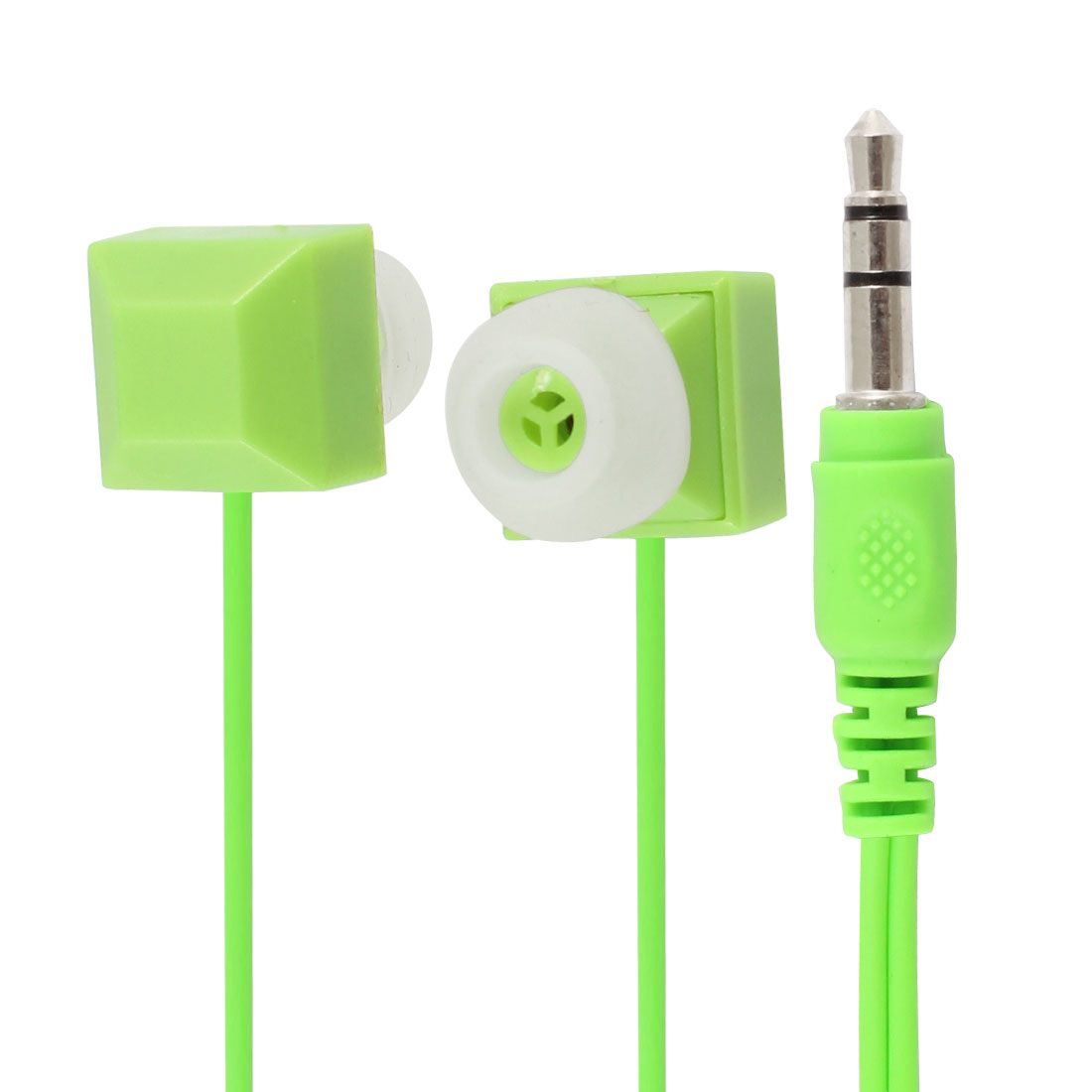 3.5mm Jack Green In Ear Stereo Headphone Earphone Headset for Mobile Phone
