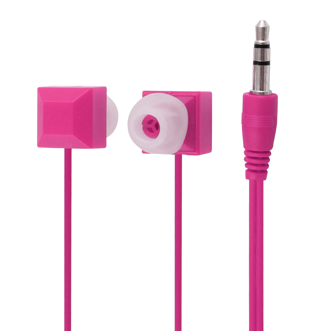3.5mm Jack Fuchsia In Ear Stereo Headphone Earphone Headset for Smartphone