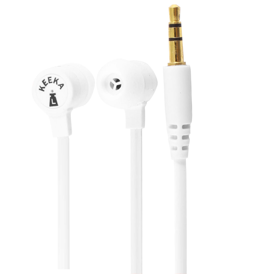 Authorized KEEKA 3.5mm Plug White in Ear Stereo Headphone Earphone for Cell Phone