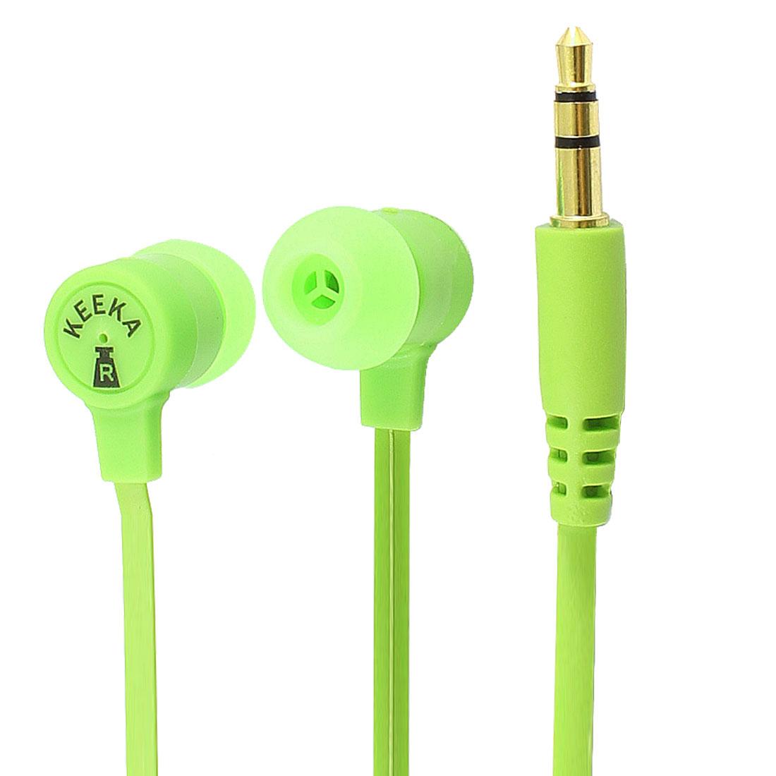 Authorized KEEKA 3.5mm Plug Green In Ear Stereo Headphone for Phone