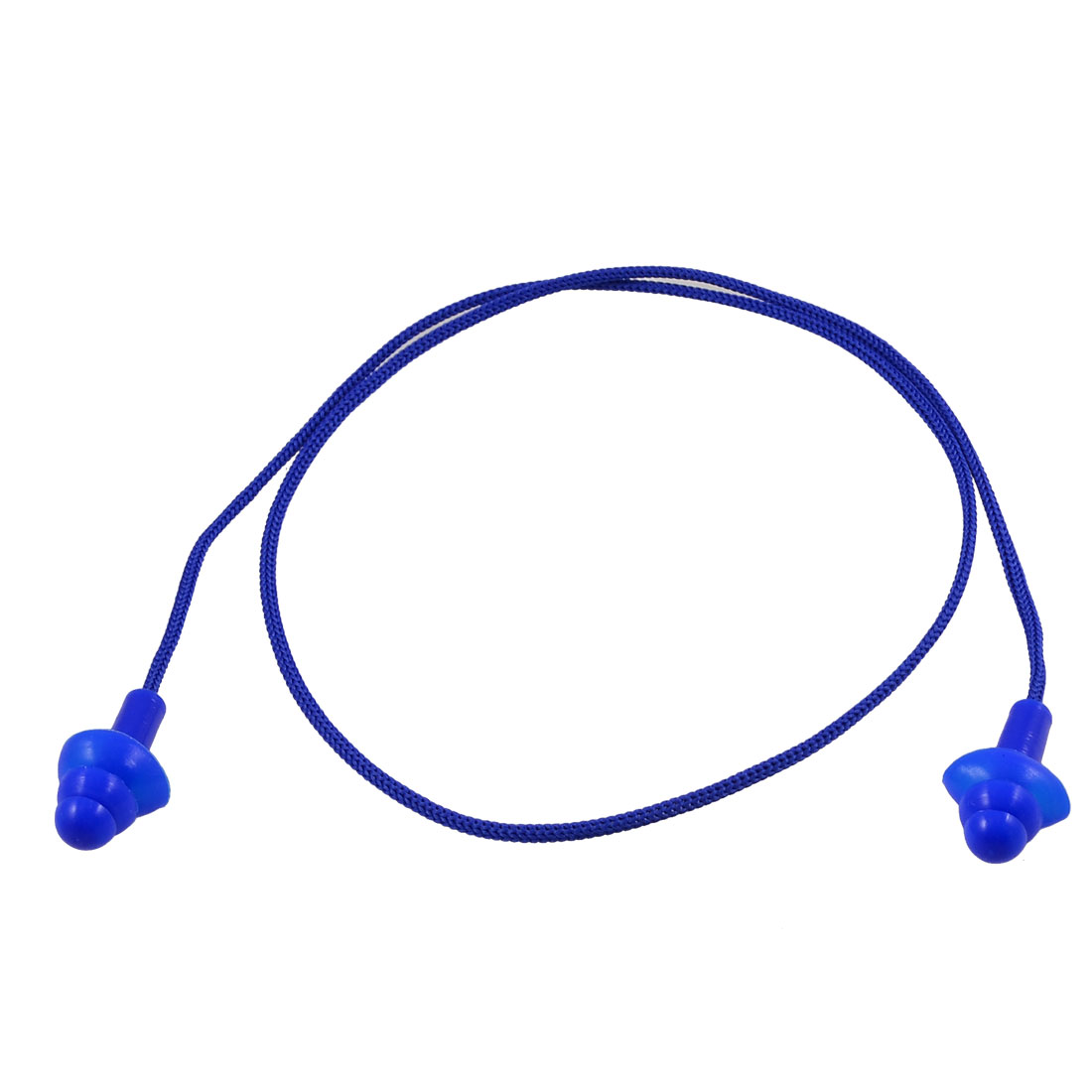 Tree Shape Soft Plastic Sleep Ear Protector with String Blue