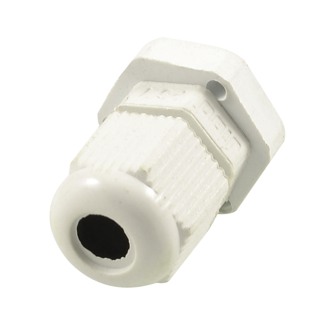White Plastic 12.5mm Thread Outside Dia PG7 Waterproof Cable Connector