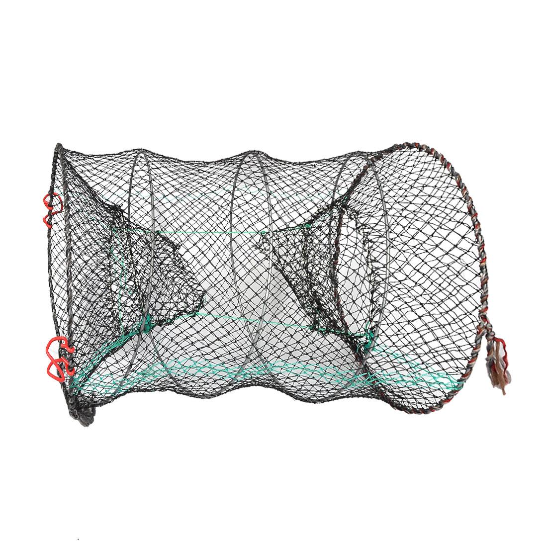 "17.7"" Tall Crab Crawfish Shrimp Foldable Nylon Fishing Keep Net"