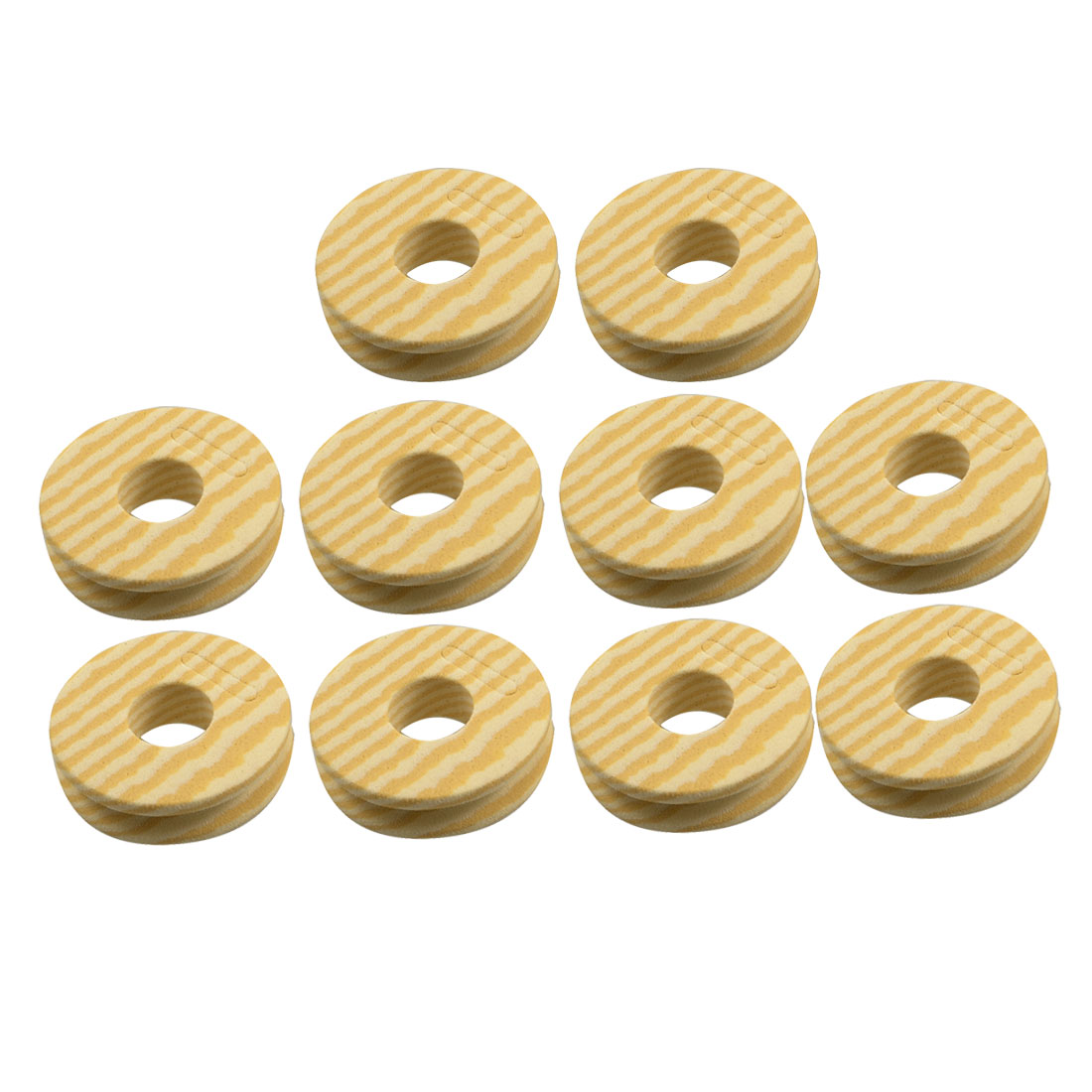 "10 Pcs 0.4"" Tall Fishing Line Foam Bobbin Spools Beige Ecru"