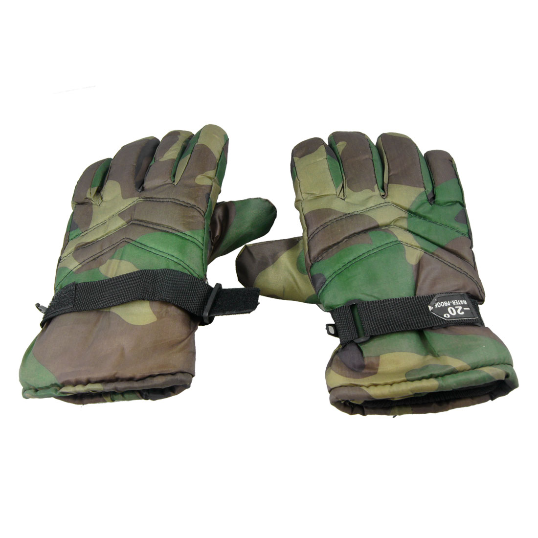 Pair Camouflage Pattern Bicycle Climbing Skiing Gloves for Man Black Army Green