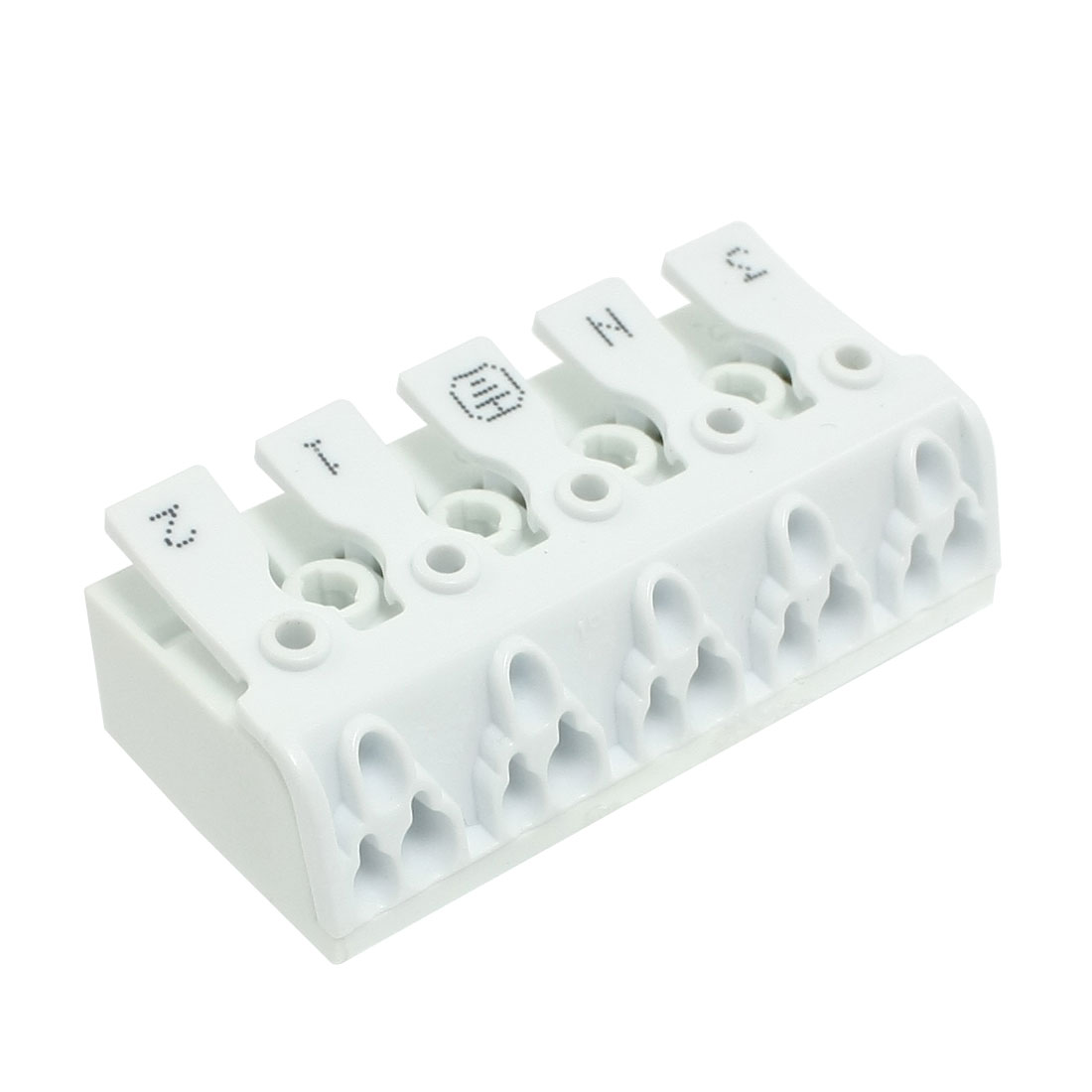 Audio Cable Wire Push in Jack Socket 5 Position Speaker Terminal Block White