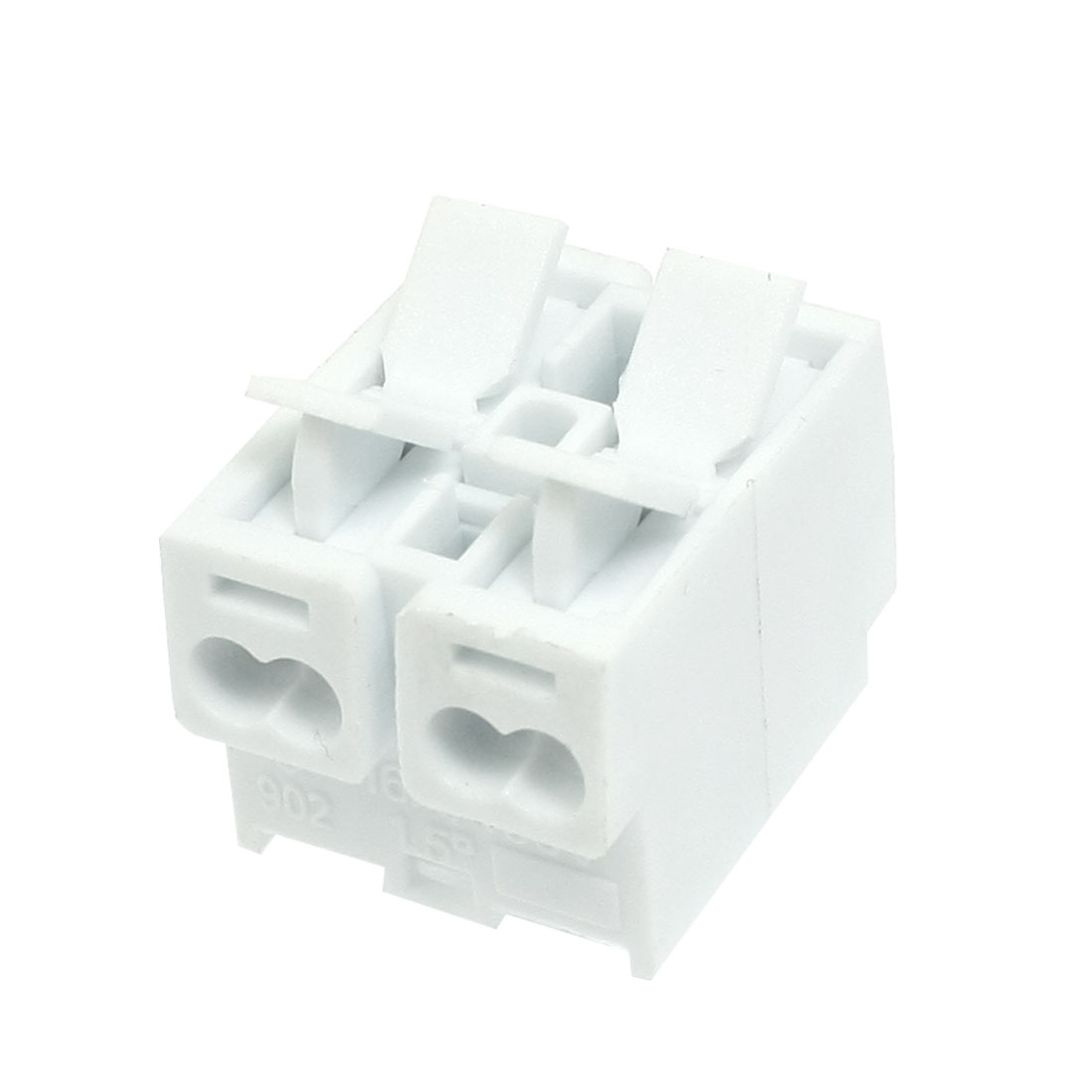 Audio Cable Wire Push in Jack Socket 2 Position Speaker Terminal Block White