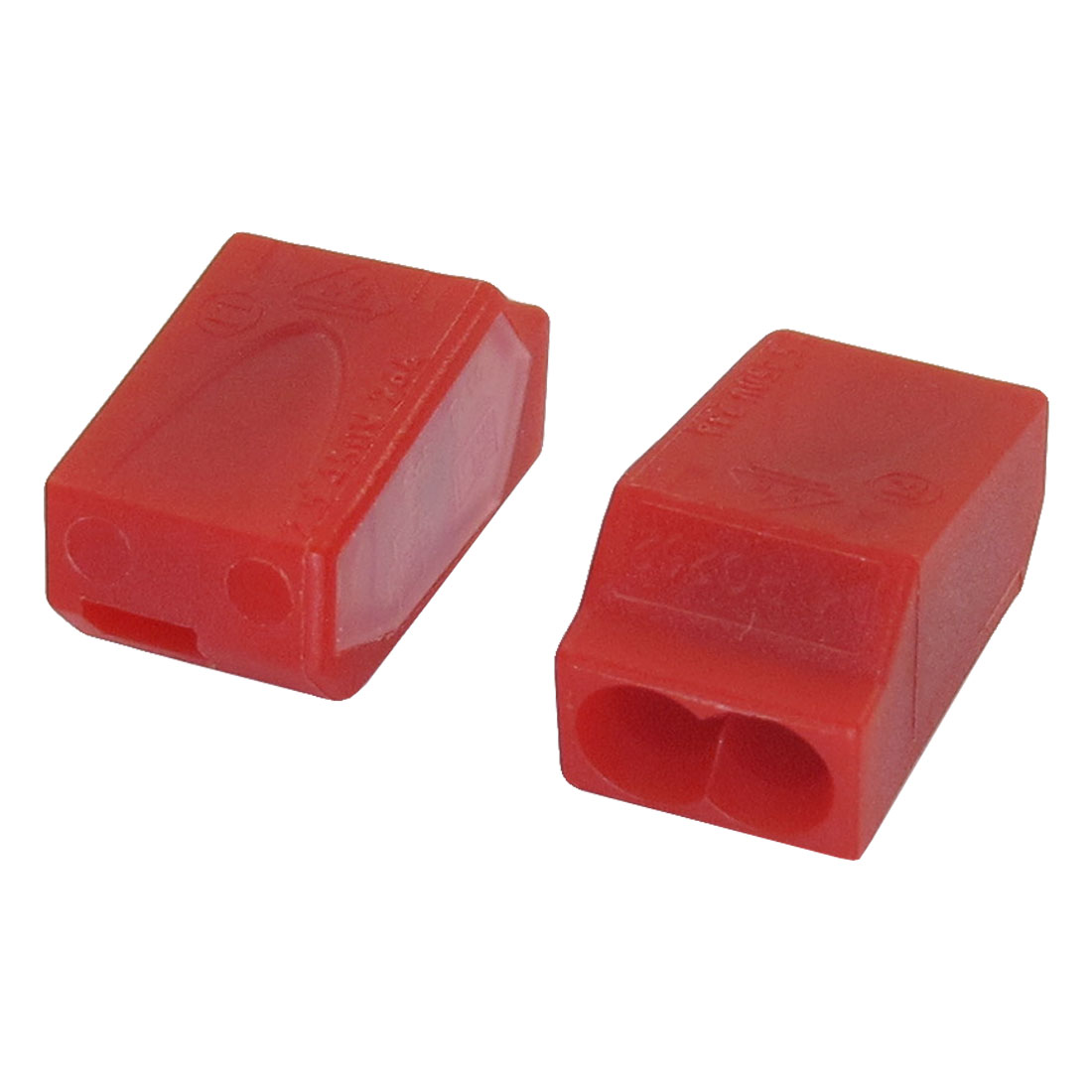 Red Thermoplastic AC 24A 450V 2 Contacts 12-22AWG PC252 Connector 2 Pieces