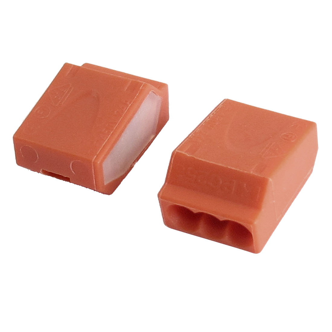 Orange Terminal Block Pluggable 12-22AWG 3 Contacts Positions 2 Pcs