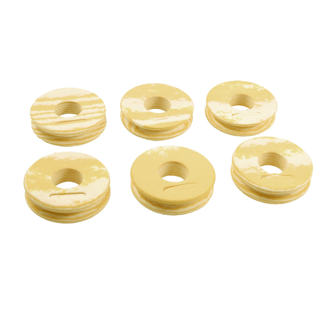 6 PCS Foam Fishing Line Bobbin Spools Set Beige W Blue Box