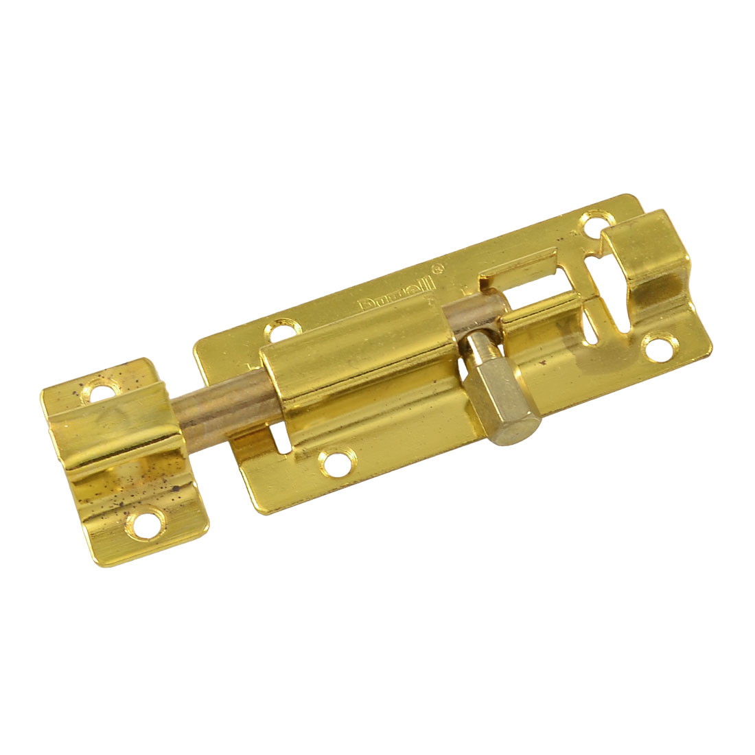 "2.9"" Long Door Safety Guard Padlock Clasp Gold Tone Barrel Bolt w 6 Screws"