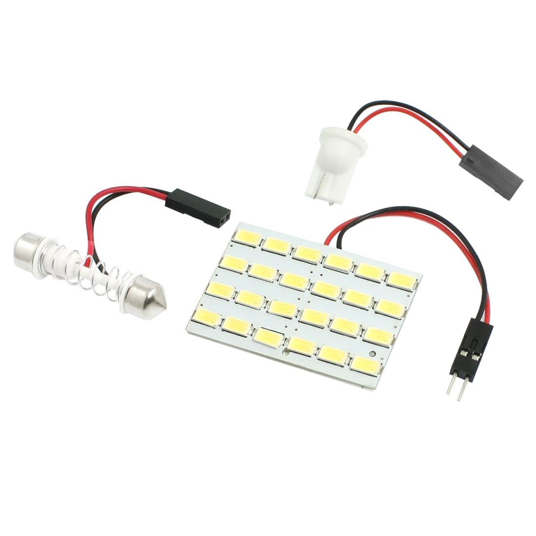 Car White 24 LED 5630 SMD T10 28-40mm Festoon Dome Bulb Ceiling Light