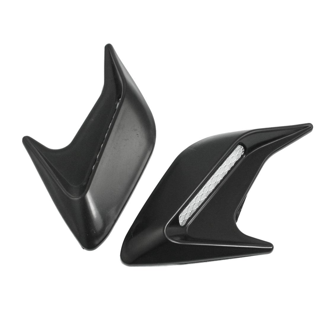Car Auto Decorative Side Vent Air Flow Fender Intake Stickers Black 2 Pcs