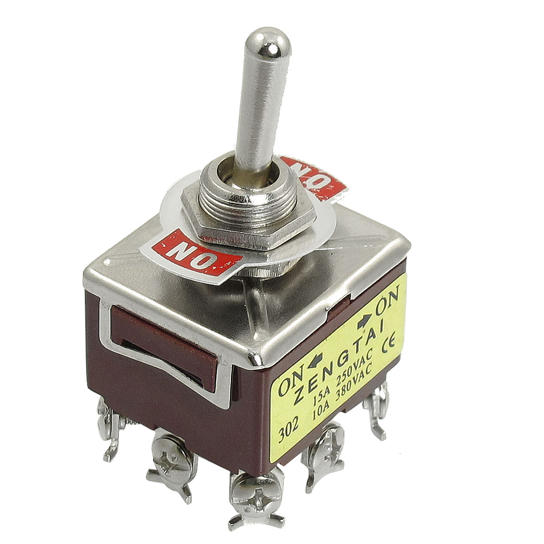 250VAC/15A 380VAC/10A ON-ON Type 3PDT 9-Pin Terminals Toggle Switch