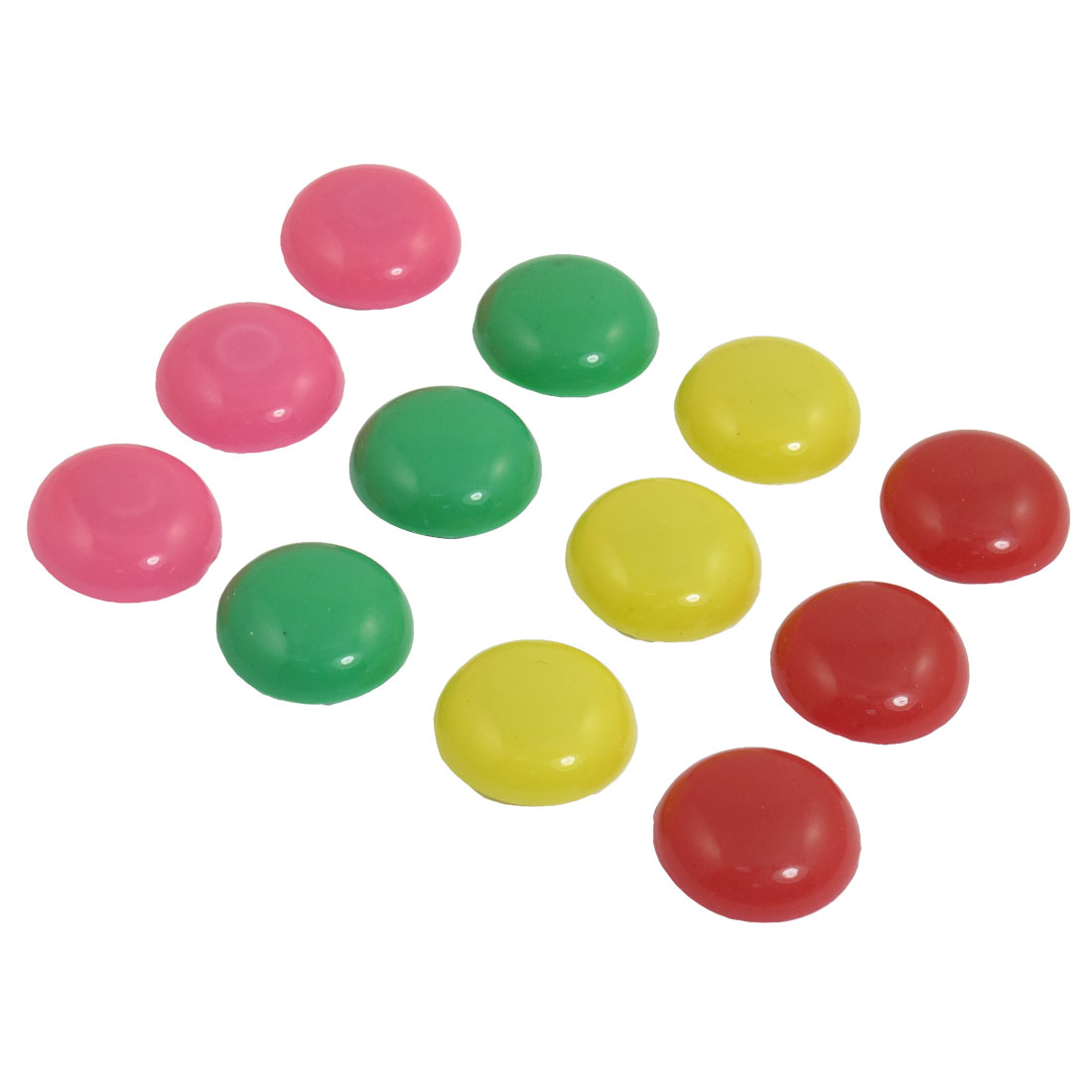 12 Pcs Assorted Color Round Shaped Magnetic Fridge Memo Paper Holder
