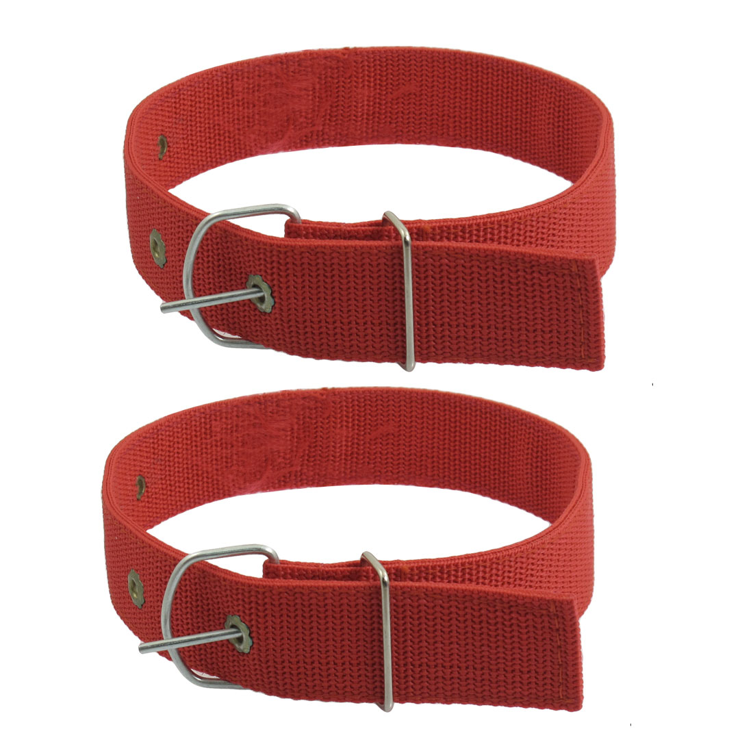2 Pcs Red Textured Fabric Rope Leash Collar for Pet Dog